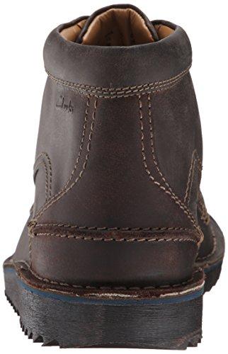 Clarks Remsen del hombres botas de Gris (Gray Leather)