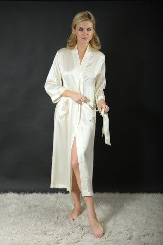 Negligee seta Silk o seta Vestaglia di di Ivory Cocoon H1ZgXXA