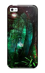 Flexible Tpu Back Case Cover For Iphone 5c - Morpheus Artistic Painting Abstract Artistic