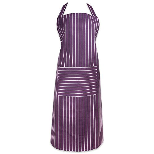 DII Professional and Commercial Grade Chef Stripe Kitchen, Apron, Eggplant