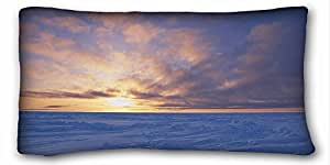 Custom Characteristic Nature Custom Cotton & Polyester Soft Rectangle Pillow Case Cover 20x36 inches (One Side) suitable for X-Long Twin-bed