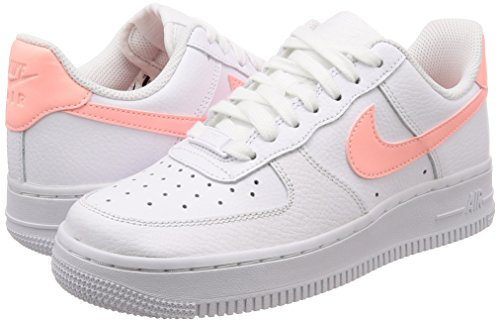 Pelle 1 07 Bianco Donna Air NIKE Sneakers Force Wmns IACwnqY