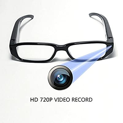 HD 720P Glasses Camera Video Recording DVR wtih 16GB Memory Card Eyewear Hidden Camera Eyeglasses Photo Taking Loop Recording Max Support 32GB SD from Bescar