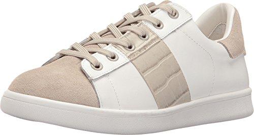 Sam Edelman Kvinners Marquette Mote Sneaker Hvit / Greige Nappa Tenis Skinn / Velur Semsket / Nile Croco