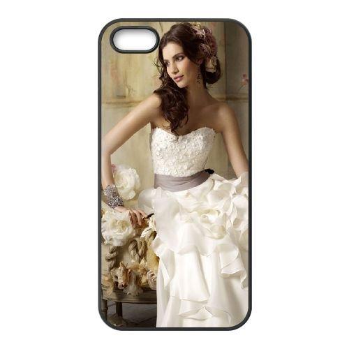 Girl Dress Curvy Brunette Flowers coque iPhone 4 4S cellulaire cas coque de téléphone cas téléphone cellulaire noir couvercle EEEXLKNBC25321