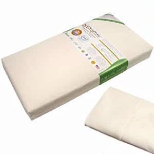 Naturepedic No-compromise Organic Cotton Classic Baby Crib and Toddler 150 Coil Mattress Kit with Sc50w Organic Cotton Sheet