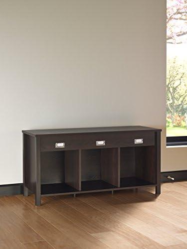 Black Walnut Closetmaid 16052 Premium 3 Cube Bench