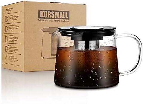 KORSMALL - Cafetera con mango y cafetera de cristal de ...