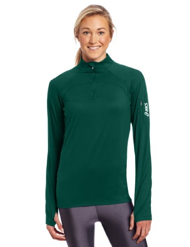 Asics Women's Team Tech Half Zip, Large, Forest