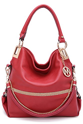 2 IN 1 Women's Twister Large New Designer Handbags Crossbody Shoulder Bag (Red-Twister)