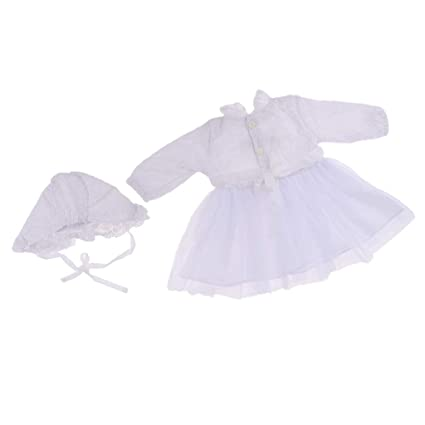 """Lovely Lace Dress Hat Suit Clothes for 20/""""-22/"""" Reborn Baby Girl Doll Outfit"""