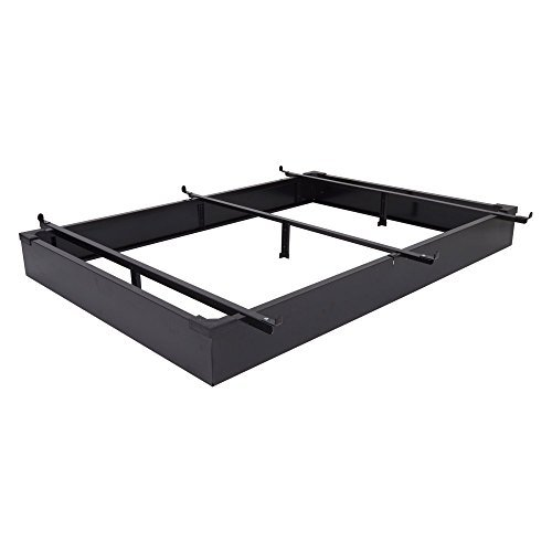 Mantua Black Bed Base, Queen - Comfortable, Hotel Style, Adjustable Metal Queen-Size Bed Frame – Extend The Life of Any Box Spring and Mattress, Prevent Dust Accumulation Under Beds