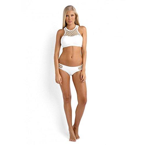 Seafolly Women's Mesh About Hipster Bikini Bottom, White, 6