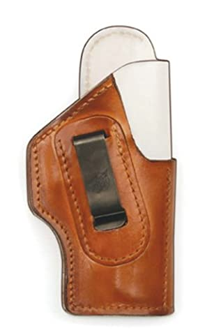 Front Line Inside the Waistband Leather Holster with Alpha Lining (Brown), Right Hand, 4-Inch Revolver 357