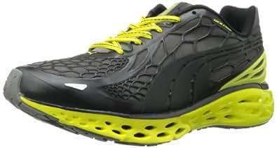 PUMA Men's BioWeb Elite Running Shoe Running Shoe,Black/Black/Fluorescent Yellow,8.5 D US