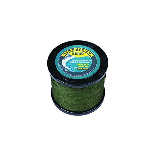 Billfisher BB3000-50 Braid, 50 lb/3000 yd, Dark Green by Fisher Scientific