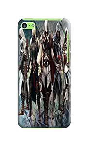 Beauty sincere design tpu skin case cover for iphone 5c of Assassin's Creed in Fashion E-Mall