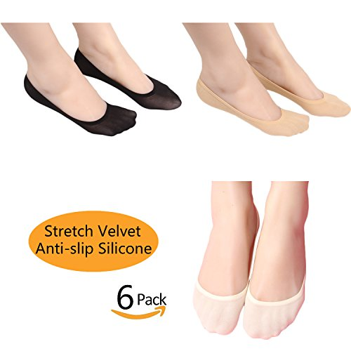 Casfine Thin Casual No Show Socks Invisible Liners for Women & Men