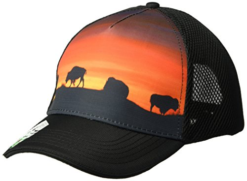 Headsweats 5 Panel Yellowstone Trucker Hat, One Size, Black