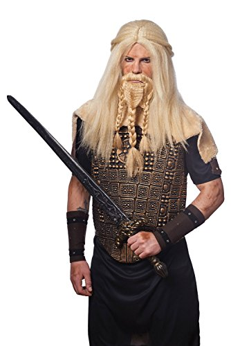 Costume Culture Men's Viking Wig and Beard Set, Blonde, One Size