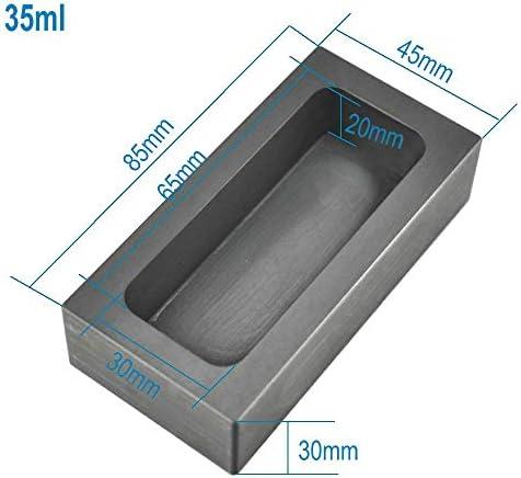 SOFIALXC Graphitbarren Hochreine Raffination Schmelzbarren Graphitschmelztiegel Für Gold-Silber-Aluminium-Metalle