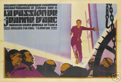 THE Passion of Joan of Arc Movie Poster 1928 Vintage 2 (The Passion Of Joan Of Arc 1928)