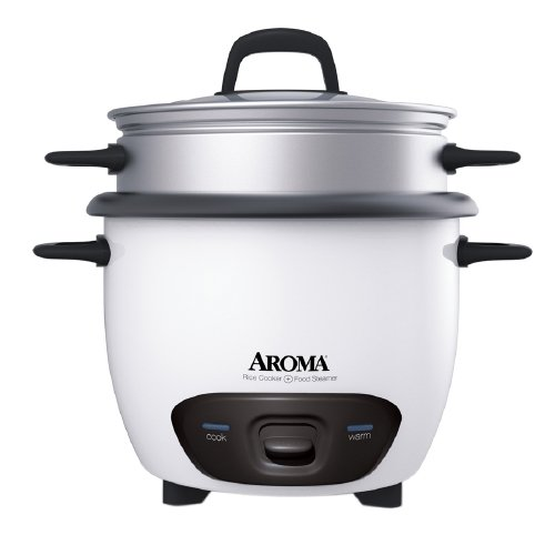 Aroma 6-Cup Pot-Style Rice Cooker, White (1) by Aroma