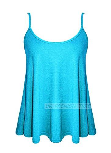 MKL Fashions - Camiseta sin mangas - para mujer turquesa
