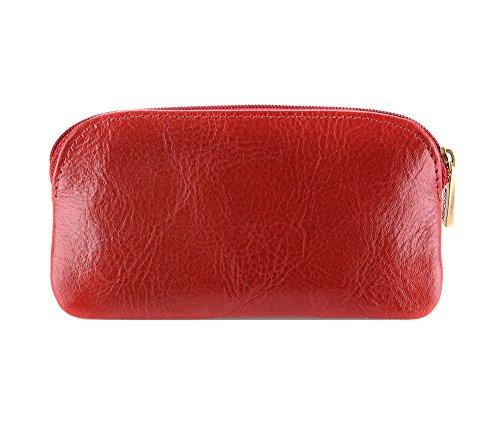 WITTCHEN Fall | 7.5x13 cm | Narbenleder, rot | Handmade, Kollektion: Italy - 21-2-265-3