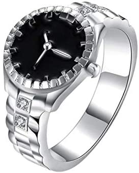 Womens Mens Fashion Finger Ring Watch Ouka Creative Steel Cool