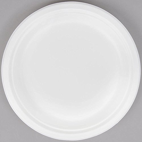 Biodegradable, Compostable Sugarcane/Bagasse 9'' Paper Plate - 500/Case - Save Money Buy Bulk by Choice