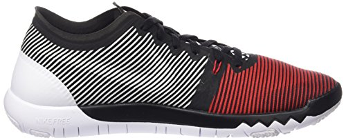 Nike Free Trainer 3.0 V4, Zapatillas de Deporte Exterior Para Hombre Rojo / Negro / Blanco (University Red / Black-White)