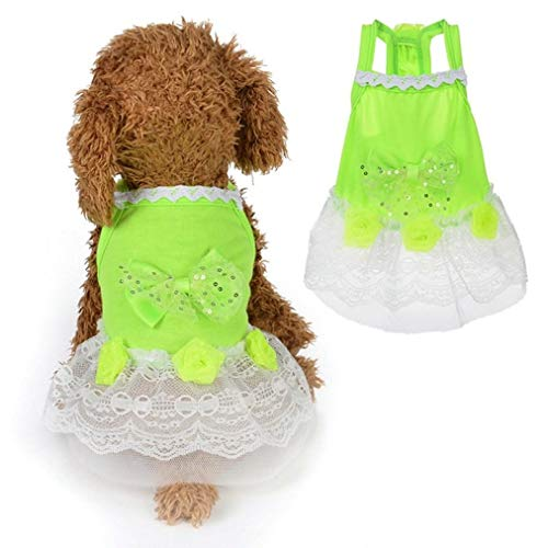 LVYING Winter Pet Dog Clothes Dress Fashion Skirt Bowknot Sweety Princess Dress Small Medium Dogs Wedding Dresses