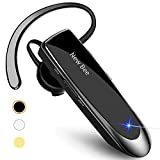 New bee Bluetooth Earpiece Wireless Handsfree Headset 24 Hrs Driving Headset 60 Days Standby Time With Noise Cancelling Mic Headsetcase for iPhone Android Samsung Laptop Truck Driver: more info