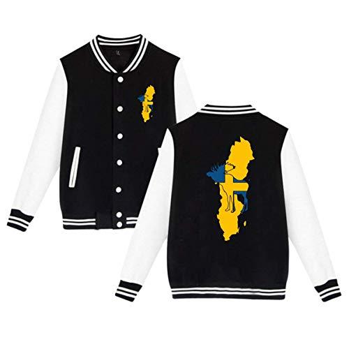 PLS&A88 Adult Unisex Baseball Jacket Uniform Swedish Moose Boys Girls Hoodie Sweatshirt Sweater Tee