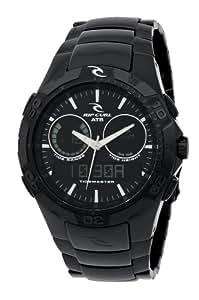 Rip Curl TM2 - SHIPSTERN MIDNIGHT ATS A1034 - Reloj de caballero de cuarzo, correa de acero inoxidable color negro