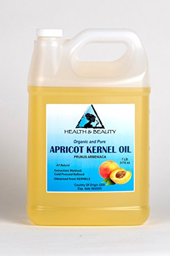 Apricot Kernel Oil Refined Organic Carrier Cold Pressed 100% Pure 128 oz, 7 LB, 1 gal