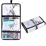 LYSHION - Hanging Waterproof Clear Travel Toiletry Wash Bag- Cosmetic Makeup Travel Organizer Clear Travel Toiletry Bag Toiletry Organizer - Water Resistant Wash Bag for Bathroom Shower Women and Men