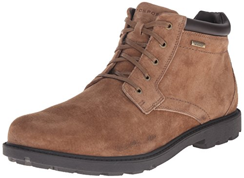 Rockport Men's Storm Surge Waterproof Plain Toe Chukka Boot, Espresso Nubuck Waterproof, 9.5 M US