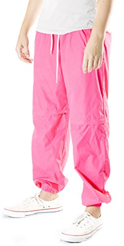 Funny Guy Mugs 80s & 90s Retro Neon Windbreaker Pants, Medium