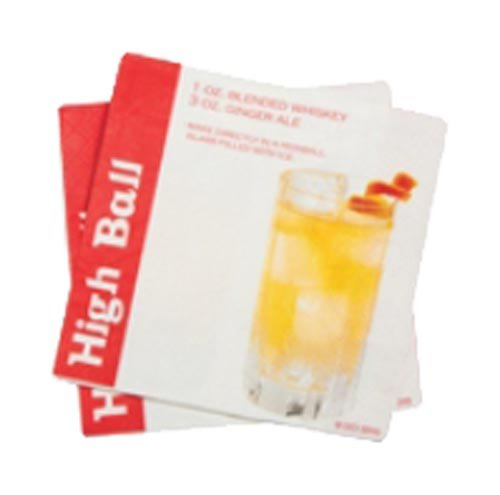 DCI Cocktail Napkins with High Ball Drink Recipe, 20-Pack