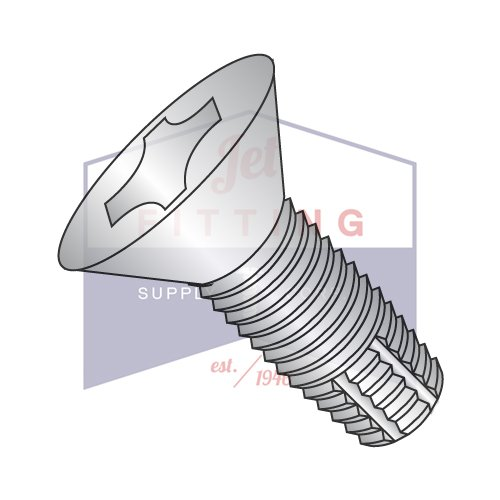 6-32X3/4 Type F Thread Cutting Screws | Phillips | Flat Head | 18-8 Stainless Steel (QUANTITY: 10000) by Jet Fitting & Supply Corp