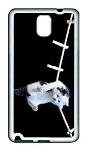 sparkly case hanging kitty TPU White case/cover for samsung galaxy note 3 N9000