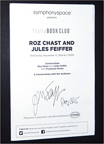 program for a conversation with roz chast and jules feiffer signed