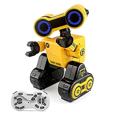 EAHUMM RC Programmable Robot for Kids Remote Voice Control Robot Toys Interactive Walking Singing Dancing Smart Robotics Birthday Gift Present for Kids Boys Girls R13-Y (Yellow).