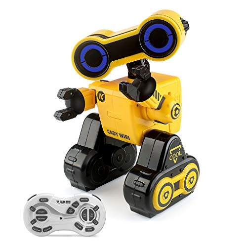 JJRC RC Programmable Robot for Kids Remote Voice Control Robot Toys Interactive Walking Singing Dancing Smart Robotics Birthday Gift Present for Kids Boys Girls (Yellow)