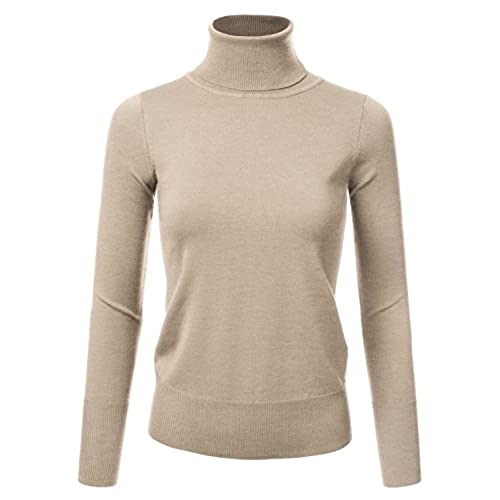 Beige Turtleneck Sweater: Amazon.com
