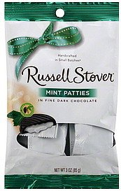 (Russell Stover Chocolate Mint Patties , Dark Chocolate, 3 Packages of 3 Oz Bags.)
