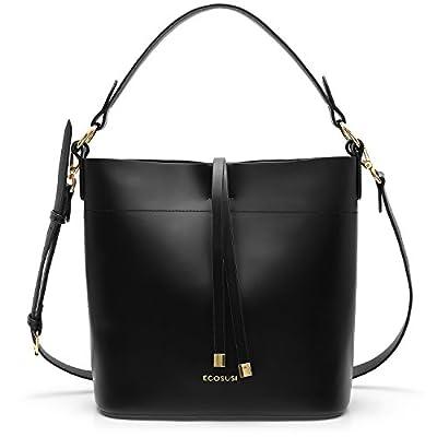 ECOSUSI Bucket Bag Women Top Handle Handbags Satchel Purse Tote Bag Shoulder Bag