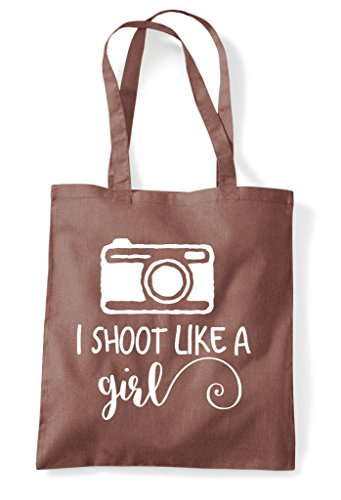 Photography Bag Shopper Like Girl I Shoot Camera Chestnut A Tote XUHn068n